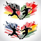 Jugadores de fútbol que representan países Fotografía de archivo