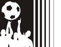 Jugadores de fútbol y barras Imágenes de archivo libres de regalías