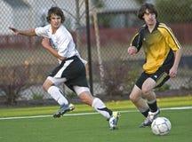 Jugadores de fútbol Fotos de archivo libres de regalías