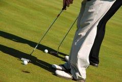 Jugadores de golf Fotografía de archivo libre de regalías
