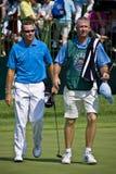 Jugadores de golf Fotos de archivo libres de regalías