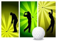 Jugadores de golf del vector Imagen de archivo libre de regalías
