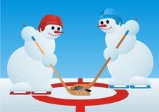 Jugadores de hockey Imágenes de archivo libres de regalías