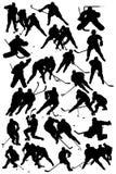 Jugadores de hockey Foto de archivo libre de regalías