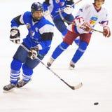 Jugadores de hockey Fotos de archivo libres de regalías