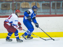 Jugadores de hockey Foto de archivo
