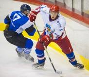 Jugadores de hockey Imagen de archivo