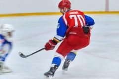 Jugadores de hockey Fotografía de archivo