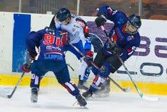Jugadores de hockey no identificados Imagen de archivo libre de regalías
