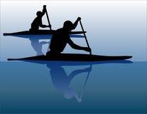 Jugadores de la canoa Fotos de archivo libres de regalías