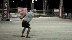 Jugadores de Pétanque en el 46.o nacional de Pézenas de Pétanque fotos de archivo