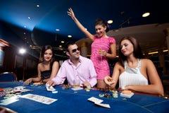 Jugadores de póker Fotografía de archivo libre de regalías