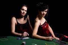 Jugadores de póker Imagen de archivo libre de regalías
