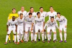 Jugadores de Real Madrid Foto de archivo libre de regalías