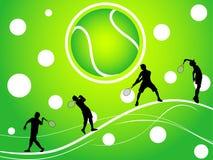 Jugadores de tenis Imágenes de archivo libres de regalías