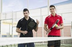 Jugadores de tenis de la paleta Imagen de archivo
