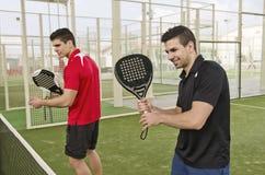 Jugadores de tenis de la paleta Fotos de archivo