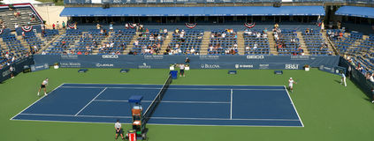 Jugadores de tenis profesionales - emparejamiento, estadio Imagen de archivo