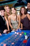 Jugadores del casino Imagenes de archivo