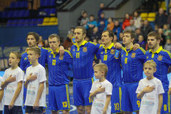 Jugadores del equipo nacional de Ucrania Imagenes de archivo