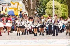 Jugadores del Glockenspiel para la banda escolar Foto de archivo libre de regalías