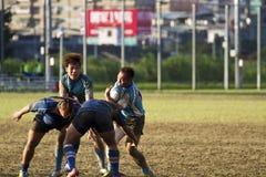 Jugadores del juego de rugby Imagen de archivo