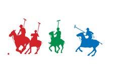 Jugadores del polo Imagen de archivo libre de regalías