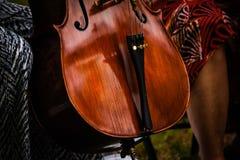 Jugadores del violoncelo Foto de archivo libre de regalías