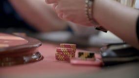 Jugadores en casino metrajes