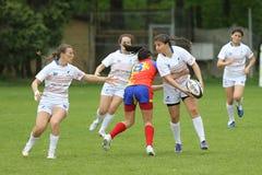 Jugadores femeninos del rugbi Imagen de archivo