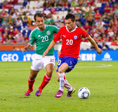 Jugadores mexicanos y chilenos Foto de archivo libre de regalías