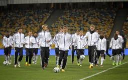 Jugadores nacionales alemanes del equipo de fútbol Imagenes de archivo