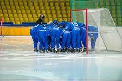Jugadores no identificados del dínamo Moscú Fotografía de archivo