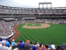 Jugadores y ventiladores - New York City del campo de Citi Imagen de archivo libre de regalías