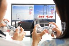 Jugando al juego junto Foto de archivo libre de regalías