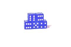 Jugando el azul corta en cuadritos Imagen de archivo libre de regalías