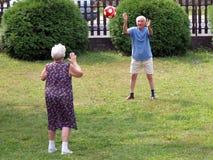 Jugando la bola - Imágenes de archivo libres de regalías