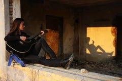 Jugaré una canción para usted Foto de archivo