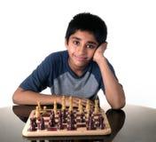Jugar a ajedrez Imágenes de archivo libres de regalías