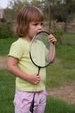 Jugar a bádminton Foto de archivo libre de regalías