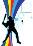 Jugar a béisbol ilustración del vector