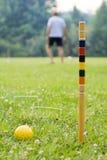 Jugar croquet Imágenes de archivo libres de regalías