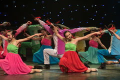 Jugar danza popular Allegro-china Imagen de archivo