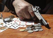 Jugar el póker Imagen de archivo