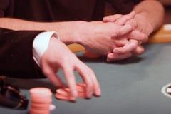 Jugar el póker Fotografía de archivo libre de regalías