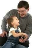 Jugar el padre y al hijo Fotos de archivo
