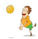 Jugar el voleyball stock de ilustración