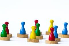 Jugar empeños en blanco Imagen de archivo libre de regalías