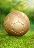 Jugar a fútbol en verano Fotos de archivo libres de regalías