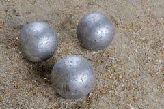 Jugar a jeu de boules Imagen de archivo libre de regalías